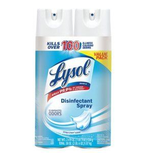 LYSOL 2 PACK VALUE DISINFECTANT SPRAY